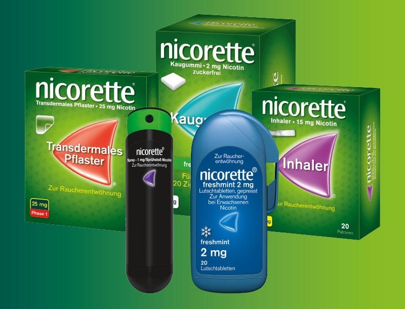 Nicorette Produktportfolio